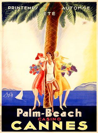 Affiche Le Palm Beach Cannes