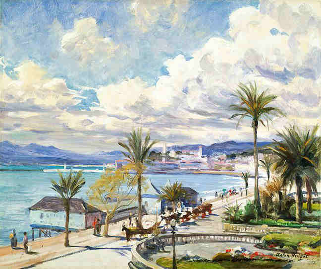 Cannes la Croisette par Louis Aston Knight