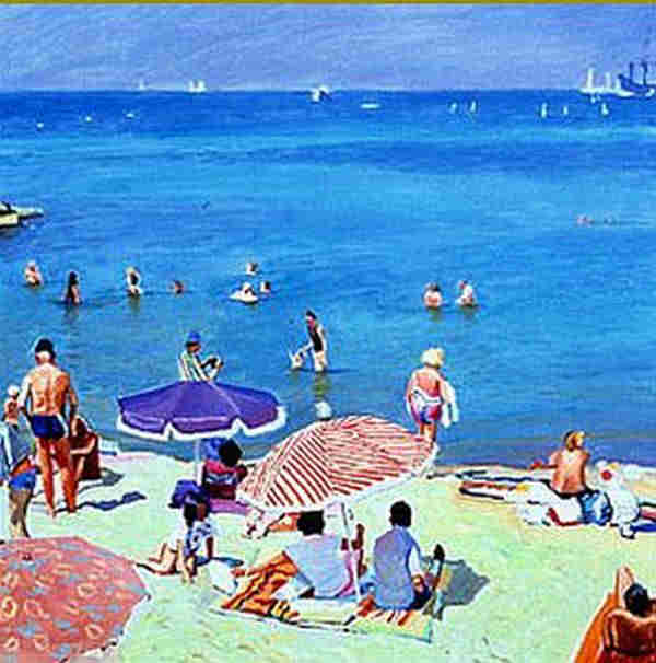 Summer beach at  Cannes by Christopher Gerlach